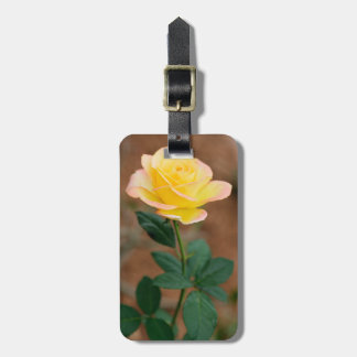 Yellow  Rose Flower Floral Flowers Roses Tag For Luggage
