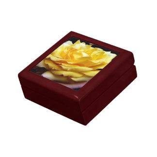 Yellow Rose Flower Gift Box