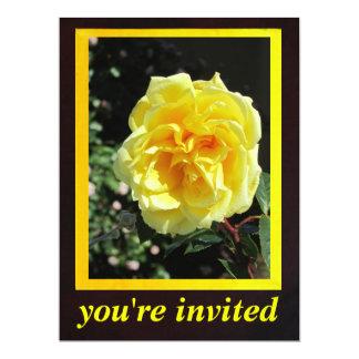 "Yellow Rose Flower 6.5"" X 8.75"" Invitation Card"