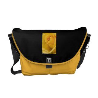 Yellow Rose Flower Messenger Bag