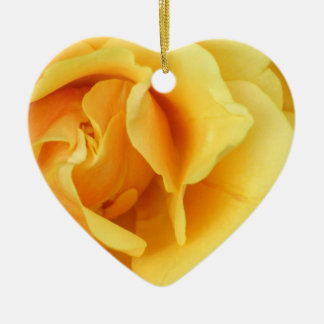 Yellow Rose Flower Ornament