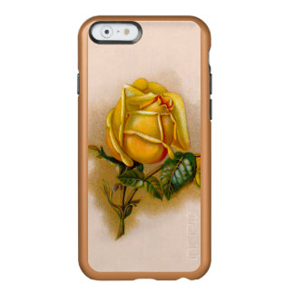 yellow rose flowers vintage incipio feather shine iPhone 6 case