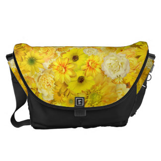 Yellow Rose Friendship Bouquet Gerbera Daisy Messenger Bag