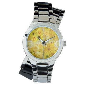 Yellow Rose Friendship Bouquet Gerbera Daisy Wrist Watch