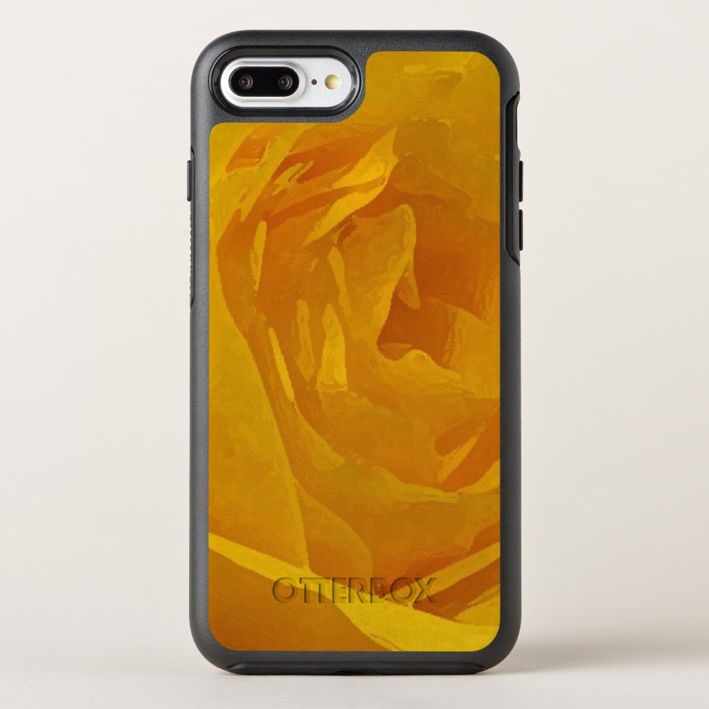 Yellow Rose Garden Flowers Abstract OtterBox Symmetry iPhone 7 Plus Case