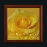 "Yellow Rose Gift Box Personalized Flower Boxes<br><div class=""desc"">Yellow Rose Gift Box Customizable Rose Boxes Yellow Rose Jewelry Boxes Personalized Baby Shower Boxes Customizable Wedding Rose Keepsake Box Custom Memorial Boxes Mementos, Rose Cards Your Photo Here Gift-box In Loving Memory Custom Boxes Yellow Rose Invitations Greeting Cards. Personalized Yellow Flower Gift Boxes for Anniversary, Birthday, New Baby Shower...</div>"