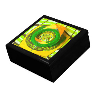 Yellow Rose Graphic Art Design Jewelry Box