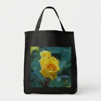 Yellow Rose Grocery Tote Bag