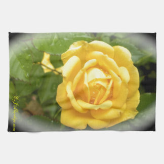 Yellow Rose Hand Towels