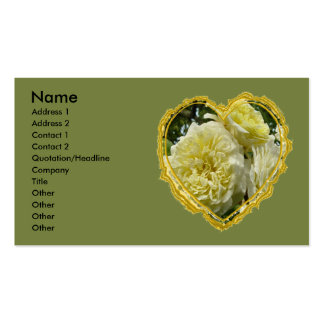 Yellow Rose Heart Business Card