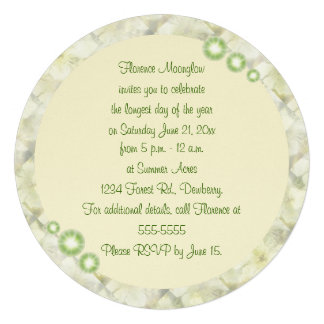 Yellow Rose in Brambles Summer Solstice Litha Invite