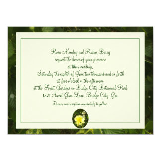 Yellow Rose in Brambles Wedding Floral Botanical 6.5x8.75 Paper Invitation Card