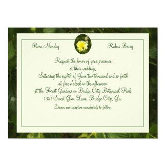 Yellow Rose in Brambles Wedding Photo Ready 6.5x8.75 Paper Invitation Card