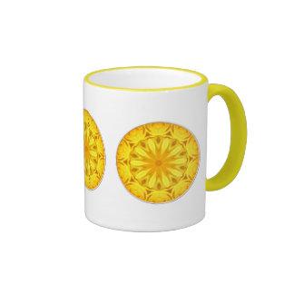 Yellow Rose Kaleidoscope (#1) Coffee Mugs