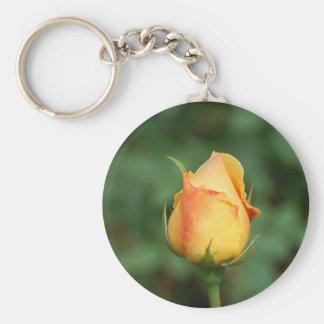 Yellow Rose Keychain