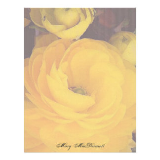 Yellow Rose Letterhead Stationery