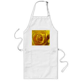Yellow Rose Macro Long Apron
