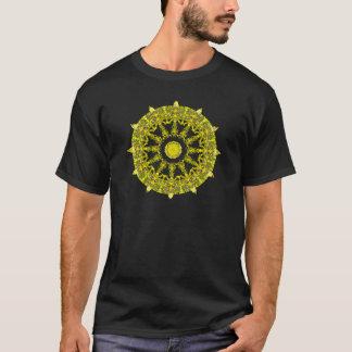Yellow Rose Mandala For Clothing T-Shirt