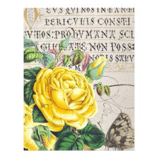 Yellow Rose Manuscript Letterhead