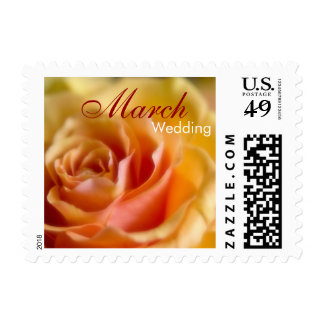 Yellow Rose • March Wedding Stamp
