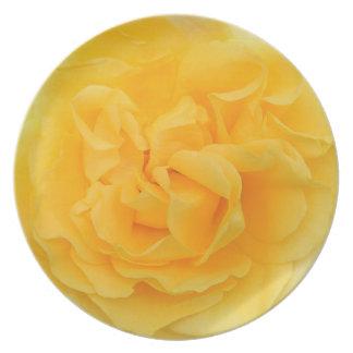 Yellow Rose Melamine Plate