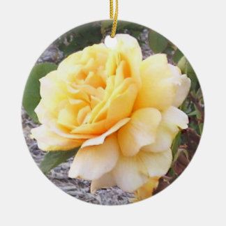 Yellow Rose Memorial Ornament