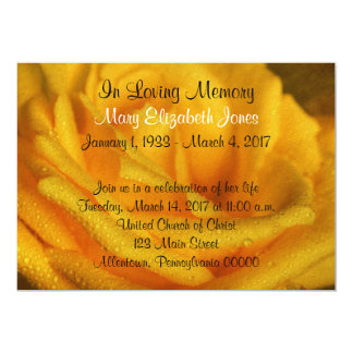 Yellow Rose Memorial Service Announcement