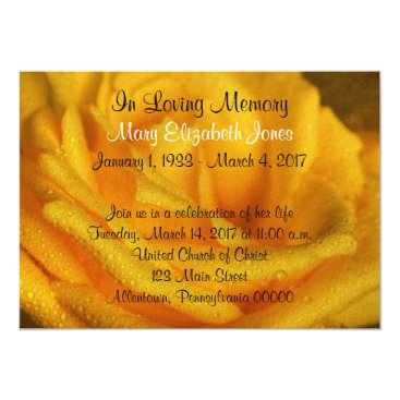 Sneffygirl Yellow Rose Memorial Service Announcement