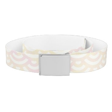 Beach Themed Yellow Rose Mermaid Pastel Pattern Belt