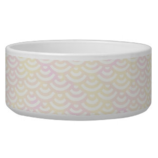 Yellow Rose Mermaid Pastel Pattern Bowl