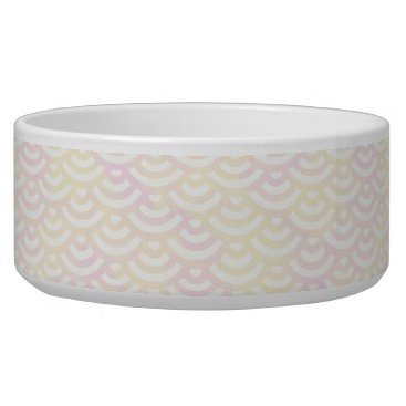 Beach Themed Yellow Rose Mermaid Pastel Pattern Bowl