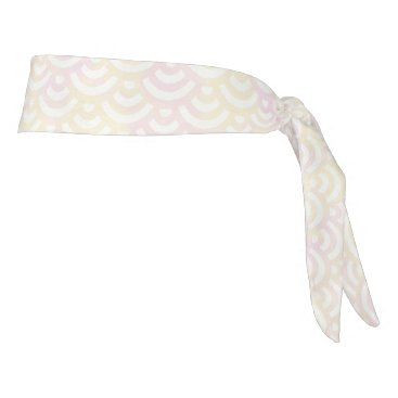 Beach Themed Yellow Rose Mermaid Pastel Pattern Tie Headband