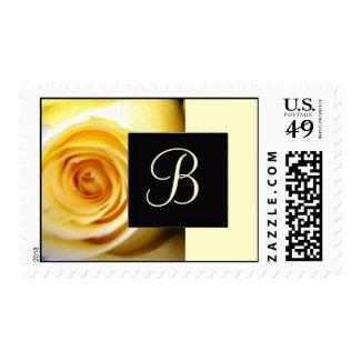 Yellow Rose Monogram Postage