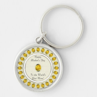 Yellow Rose Mother's Day Key Chain