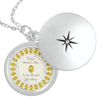 Yellow Rose Mother's Day Necklace