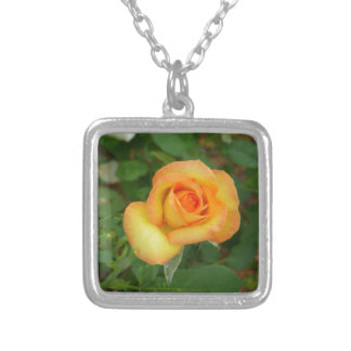 Yellow Rose Personalized Necklace
