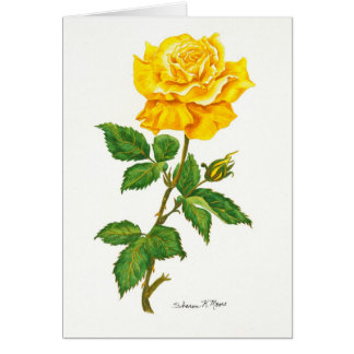 Yellow Rose - Note Card