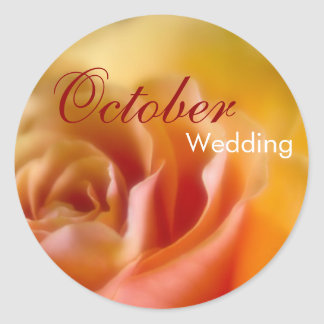 Yellow Rose • October Wedding Sticker