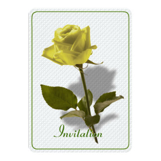 Yellow Rose of Friendship 5x7 Paper Invitation Card