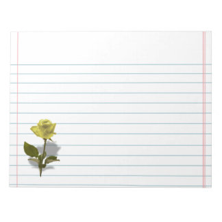 Yellow Rose of Friendship Notepad