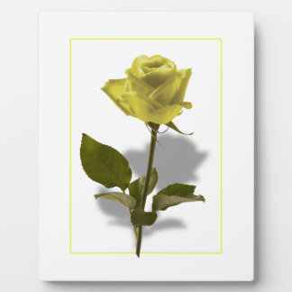 Yellow Rose of Friendship Plaque