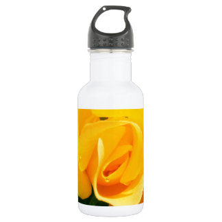 Yellow Rose of Friendship Stainless Steel Water Bottle