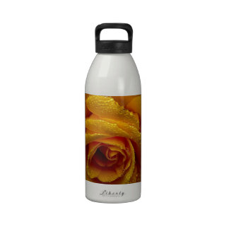 Yellow Rose of Love Water Bottle