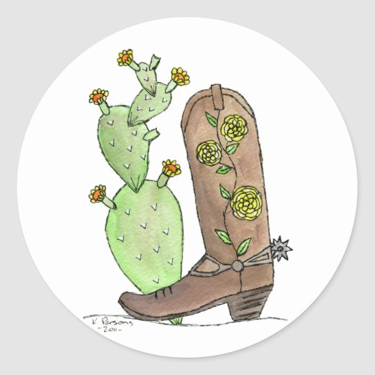 Yellow Rose of Texas Classic Round Sticker