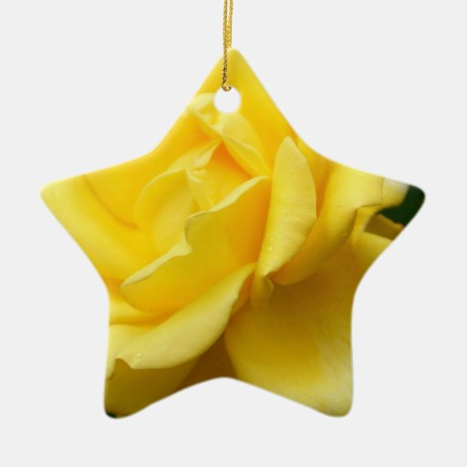 Yellow rose of texas double sided star ceramic christmas