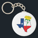 """YELLOW ROSE OF TEXAS KEYCHAIN<br><div class=""""desc"""">The Texas star is a perfect addition to your Texan proud theme. Get these designs from Great Notions.</div>"""