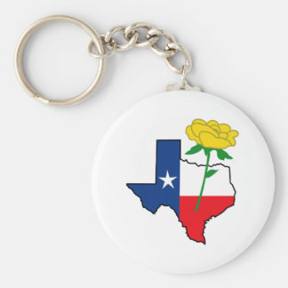 YELLOW ROSE OF TEXAS KEYCHAIN