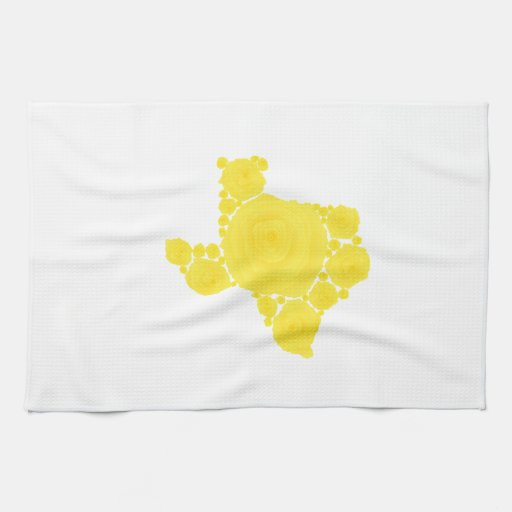 Yellow Rose of Texas Kitchen Towels