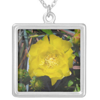 Yellow Rose of Texas Silver Plated Necklace