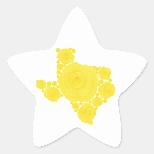 Yellow Rose of Texas Star Sticker